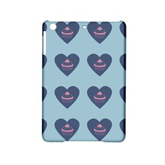 Cupcake Heart Teal Blue Ipad Mini 2 Hardshell Cases by snowwhitegirl