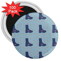 Deer Boots Teal Blue 3  Magnets (100 Pack) by snowwhitegirl