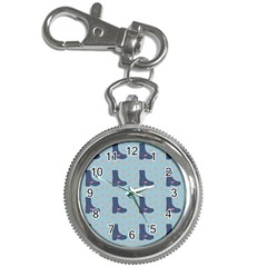 Deer Boots Teal Blue Key Chain Watches by snowwhitegirl