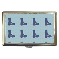 Deer Boots Teal Blue Cigarette Money Cases by snowwhitegirl