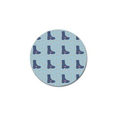 Deer Boots Teal Blue Golf Ball Marker (10 Pack) by snowwhitegirl
