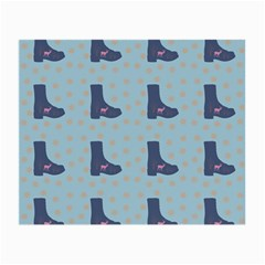 Deer Boots Teal Blue Small Glasses Cloth (2 Side) by snowwhitegirl