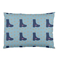Deer Boots Teal Blue Pillow Case by snowwhitegirl
