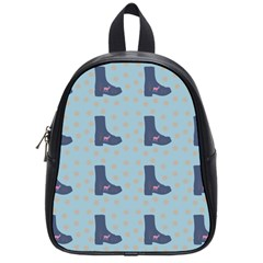 Deer Boots Teal Blue School Bag (small) by snowwhitegirl