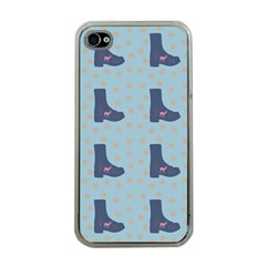 Deer Boots Teal Blue Apple Iphone 4 Case (clear) by snowwhitegirl