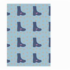 Deer Boots Teal Blue Small Garden Flag (two Sides) by snowwhitegirl