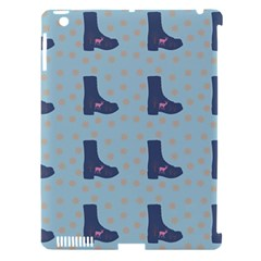 Deer Boots Teal Blue Apple Ipad 3/4 Hardshell Case (compatible With Smart Cover) by snowwhitegirl