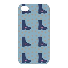 Deer Boots Teal Blue Apple Iphone 4/4s Premium Hardshell Case by snowwhitegirl