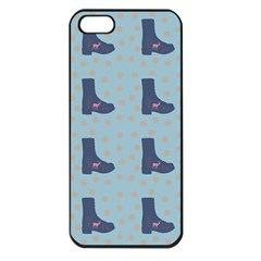 Deer Boots Teal Blue Apple Iphone 5 Seamless Case (black) by snowwhitegirl