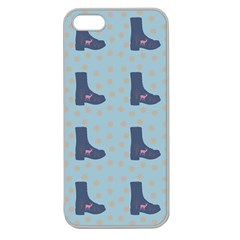 Deer Boots Teal Blue Apple Seamless Iphone 5 Case (clear) by snowwhitegirl