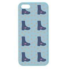 Deer Boots Teal Blue Apple Seamless Iphone 5 Case (color) by snowwhitegirl