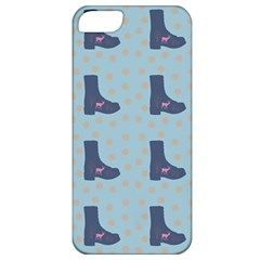 Deer Boots Teal Blue Apple Iphone 5 Classic Hardshell Case by snowwhitegirl