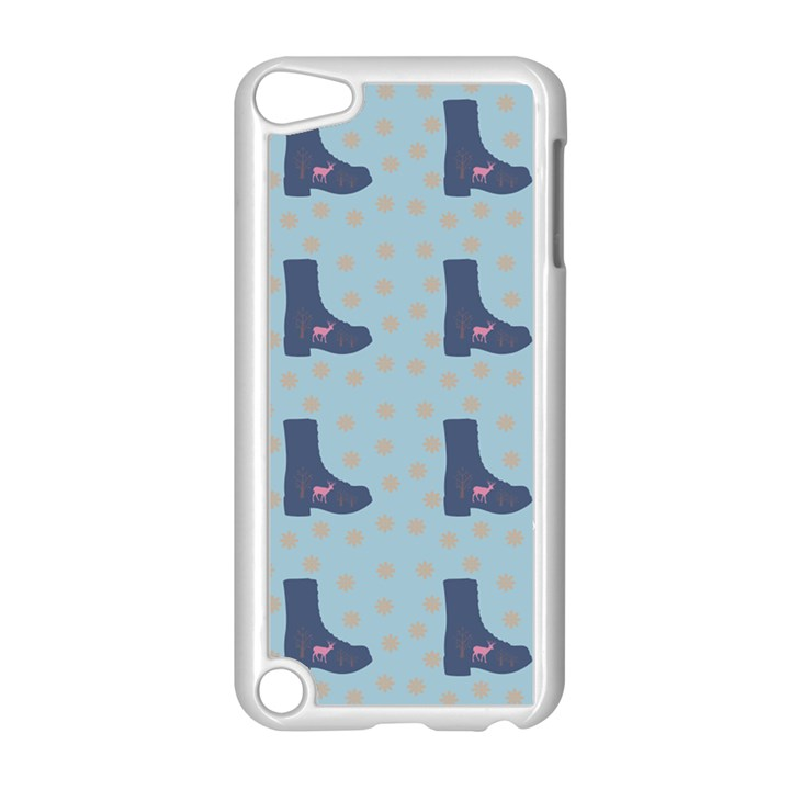 Deer Boots Teal Blue Apple iPod Touch 5 Case (White)
