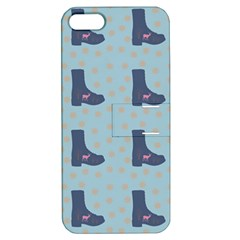Deer Boots Teal Blue Apple Iphone 5 Hardshell Case With Stand by snowwhitegirl