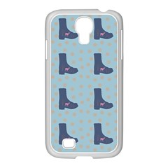 Deer Boots Teal Blue Samsung Galaxy S4 I9500/ I9505 Case (white) by snowwhitegirl