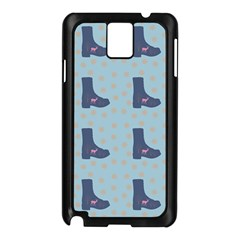 Deer Boots Teal Blue Samsung Galaxy Note 3 N9005 Case (black) by snowwhitegirl
