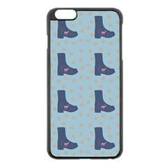 Deer Boots Teal Blue Apple Iphone 6 Plus/6s Plus Black Enamel Case by snowwhitegirl