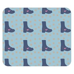 Deer Boots Teal Blue Double Sided Flano Blanket (small)  by snowwhitegirl