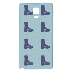 Deer Boots Teal Blue Galaxy Note 4 Back Case by snowwhitegirl