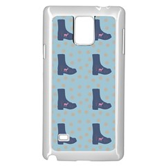 Deer Boots Teal Blue Samsung Galaxy Note 4 Case (white) by snowwhitegirl