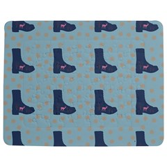 Deer Boots Teal Blue Jigsaw Puzzle Photo Stand (rectangular) by snowwhitegirl