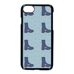 Deer Boots Teal Blue Apple Iphone 7 Seamless Case (black) by snowwhitegirl