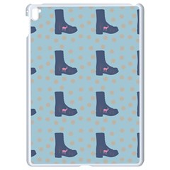 Deer Boots Teal Blue Apple Ipad Pro 9 7   White Seamless Case by snowwhitegirl