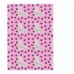 Deer Boots Pink Grey Small Garden Flag (two Sides) by snowwhitegirl