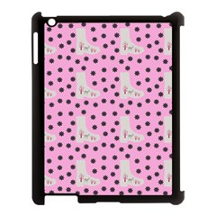 Deer Boots Pink Grey Apple Ipad 3/4 Case (black) by snowwhitegirl