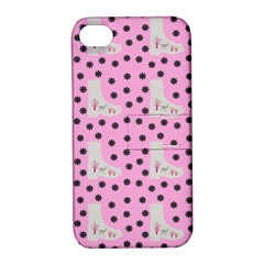 Deer Boots Pink Grey Apple Iphone 4/4s Hardshell Case With Stand by snowwhitegirl