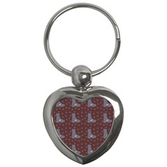 Deer Boots Brown Key Chains (heart)  by snowwhitegirl