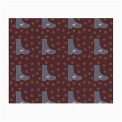 Deer Boots Brown Small Glasses Cloth (2 Side) by snowwhitegirl