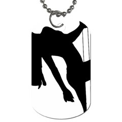 Pole Dancer Silhouette Dog Tag (one Side) by Jojostore