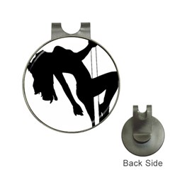 Pole Dancer Silhouette Hat Clips With Golf Markers by Jojostore