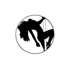 Pole Dancer Silhouette Hat Clip Ball Marker (4 Pack)