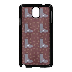 Deer Boots Brown Samsung Galaxy Note 3 Neo Hardshell Case (black) by snowwhitegirl