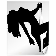 Pole Dancer Silhouette Canvas 18  X 24   by Jojostore