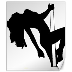 Pole Dancer Silhouette Canvas 20  X 24