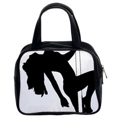 Pole Dancer Silhouette Classic Handbags (2 Sides) by Jojostore
