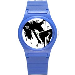 Pole Dancer Silhouette Round Plastic Sport Watch (s) by Jojostore