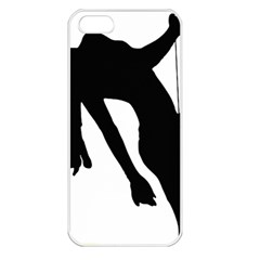 Pole Dancer Silhouette Apple Iphone 5 Seamless Case (white) by Jojostore