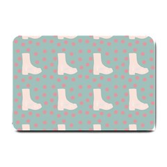 Deer Boots Blue White Small Doormat  by snowwhitegirl