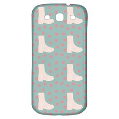 Deer Boots Blue White Samsung Galaxy S3 S Iii Classic Hardshell Back Case by snowwhitegirl