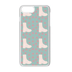 Deer Boots Blue White Apple Iphone 7 Plus Seamless Case (white) by snowwhitegirl