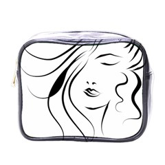 Womans Face Line Mini Toiletries Bags