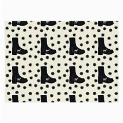 Deer Boots White Black Large Glasses Cloth by snowwhitegirl