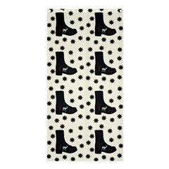 Deer Boots White Black Shower Curtain 36  X 72  (stall)  by snowwhitegirl