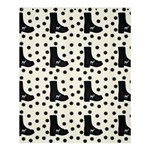 Deer Boots White Black Shower Curtain 60  x 72  (Medium)  54.25 x65.71 Curtain
