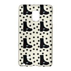 Deer Boots White Black Galaxy Note Edge by snowwhitegirl