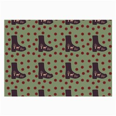 Deer Boots Green Large Glasses Cloth (2 Side) by snowwhitegirl